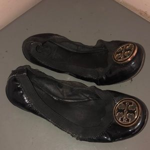 Tory Burch reva fiats shoes blank patent leather